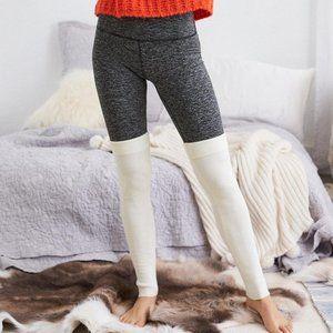 Aerie Play Legwarmer Legging, Dark Heather Gray -S
